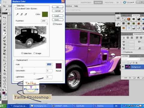 how to use replace color in Photoshop cs5 Urdu tutorials free video lesson 18