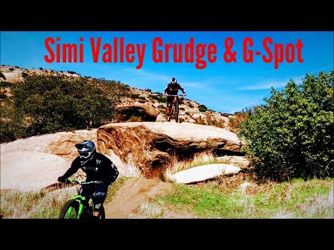 The Grudge and G Spot, Mountain biking Simi Valley (Rocky Peak) Jan 21, 2018