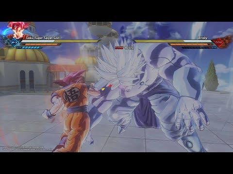 DRAGON BALL XENOVERSE 2 : SSJ God Goku vs LSSJ Demon Broly