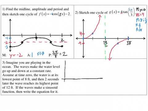 ESQ 4 - Graphing and Modeling Trig Functions