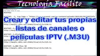 Nueva forma de sacar listas m3u (iptv privadas) - PakVim net HD