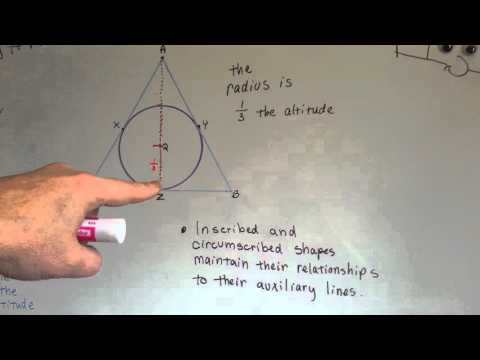 Radius of Inscribed Circle Theorem (Geometry #194)