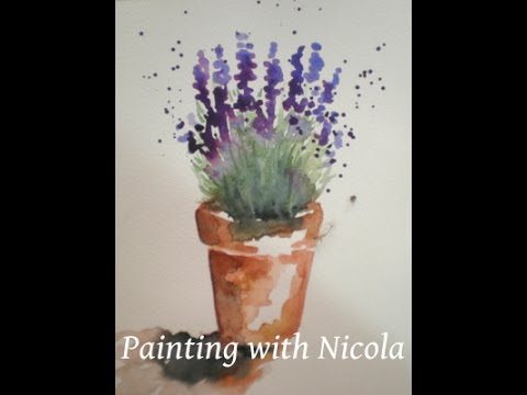 You can paint this  'Pot of Lavender', in watercolours, in 10 minutes. Learn more goo.gl/f8msrD