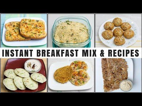 6 Instant Breakfast Recipes | 5 Minute Breakfast | Homemade Instant Breakfast Mixes