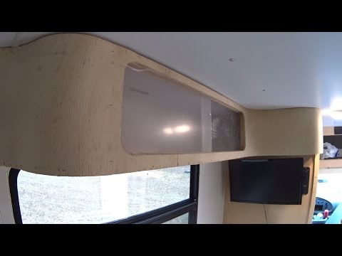 Box Truck Camper Custom DIY Curved RV Cabinets pt4 66