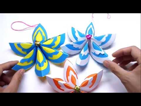 How to make a Paper Ornament flower Decoration Christmas