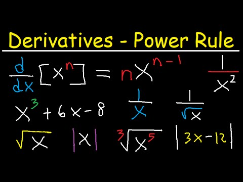 Derivatives Powe Rule - Polynomial, Radical, Square Root & Absolute Value Functions - Calculus