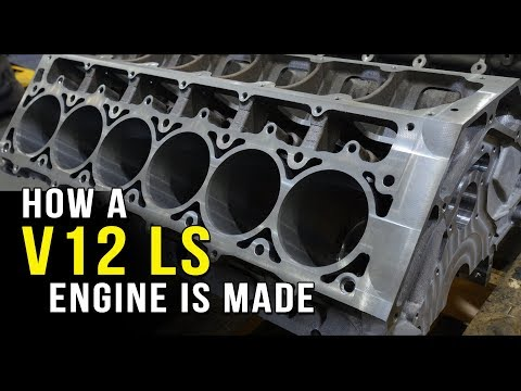 How a V12 LS engine is made