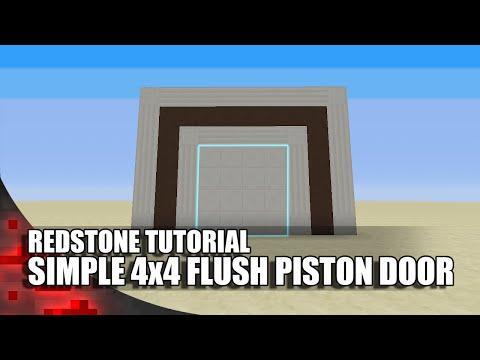 Minecraft: Simple 4x4 Flush Piston Door!