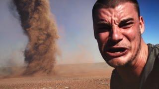 Crazy Guy Runs Into Outback Tornado To Take Selfie