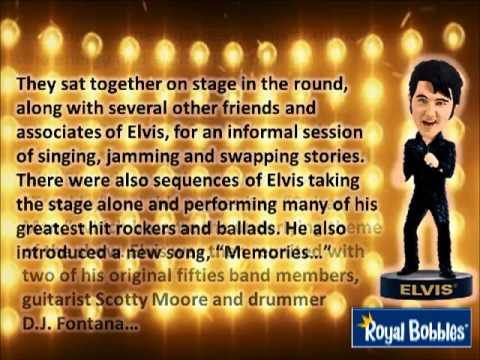 Royal Bobbles Presents the Elvis '68 Comeback Special Edition Bobblehead