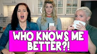 WHICH BFF KNOWS ME BETTER (ft HANNAH & MAMRIE) // Grace Helbig