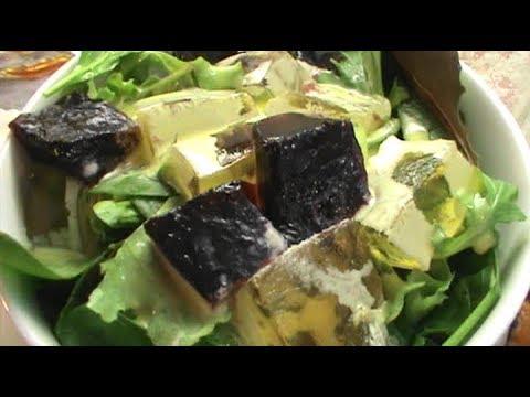 Salad With Gelatin Cubes
