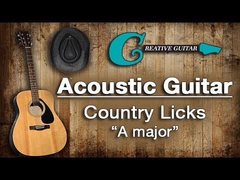 Acoustic Guitar Country Licks (Key of A Major)