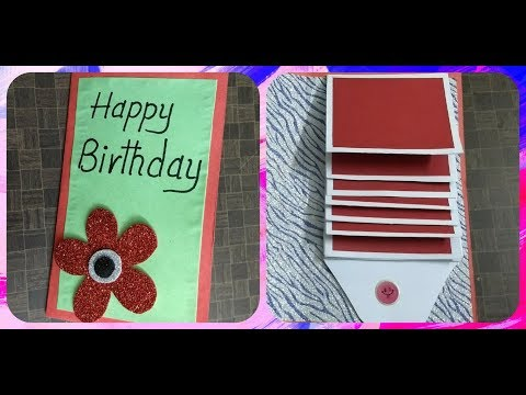 Handmade WATERFALL CARD for Birthday | complete tutorial