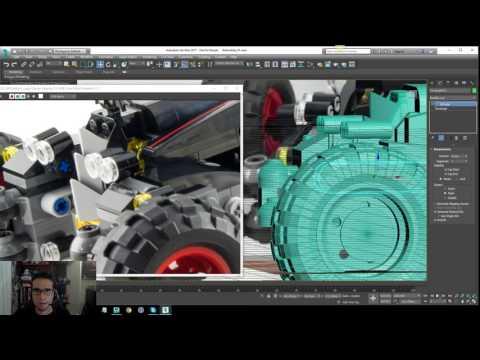 Lego Batman 2017 - Batmobile Modeling Tutorial - Part 14