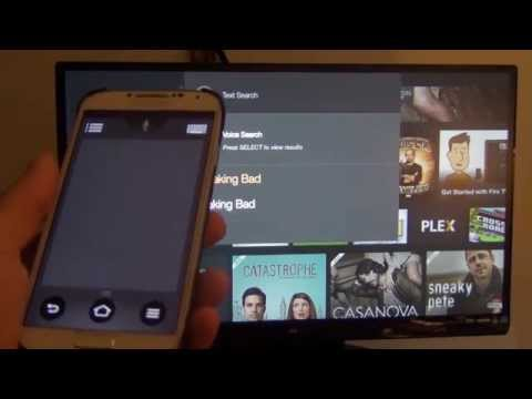 How to use phone to control Fire TV