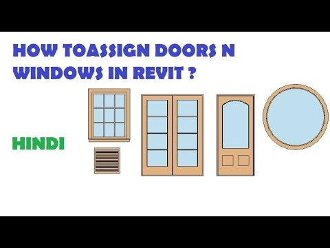 07-HOW TO MAKE DOORS & WINDOWS IN REVIT ? (HINDI)