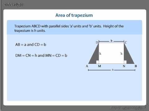CBSE 8th Math   Area of Trapezium