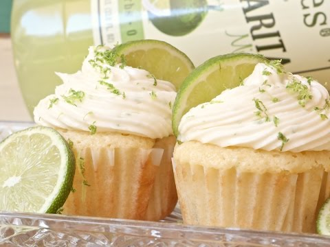 Margarita Cupcakes + Tequila Lime Frosting