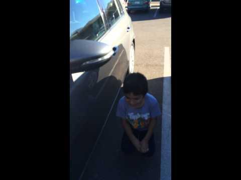 Gabe reacting to a loaner car!!!!