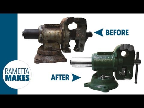 How to Restore a Bench Vise // DIY
