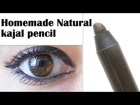 Homemade natural kajal pencil with straw | MUST WATCH