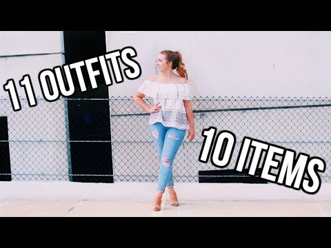 11 OUTFITS FROM 10 ITEMS   Summer Capsule Wardrobe