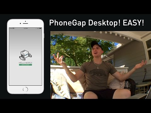 Create HTML Web App for iPhone/Android - PhoneGap Desktop