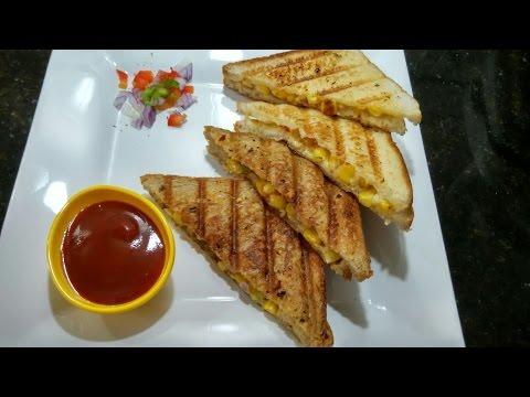 Corn Cheese Sandwich Recipe/easy and Quick sandwich/tasty snacks#147