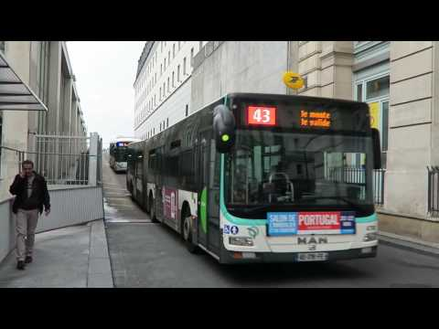 Paris Buses At Gare du Nord 26 May 2016