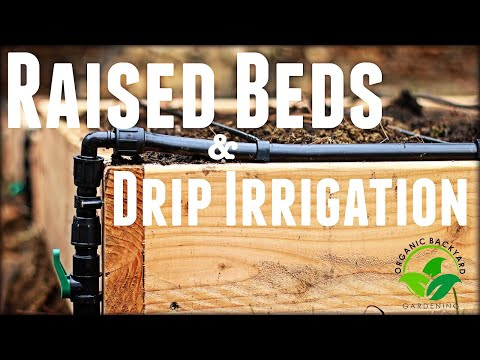 How to Build a Raised Garden Bed with Drip Irrigation - Inexpensive & Easy