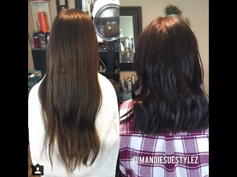 Cutting 9 inches OFF | Long Hair Cut To Medium Length