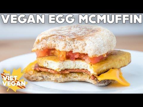 Vegan Egg McMuffins | VEGAN BRINNER COLLAB