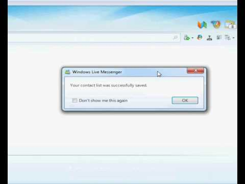Guide on how to Export then Import your Messenger Contacts.wmv