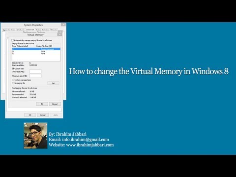 How to change the Virtual Memory in Windows 8