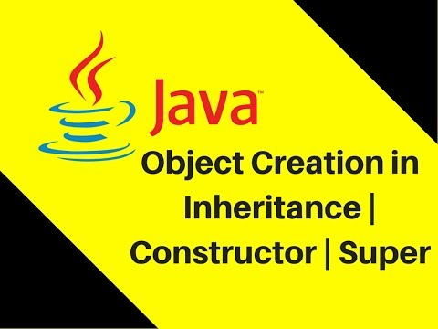 8.6 Object Creation in Inheritance | Constructor | Super
