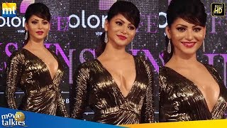 Urvashi Rautela Looks Super H0T In Golden Dress At Miss India 2019 Red Carpet