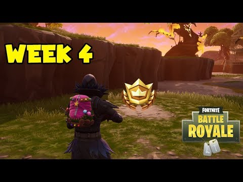 ''Search between a Bench, Ice Cream Truck and a Helicopter'' Location! (Fortnite: Week 4 Challenges)