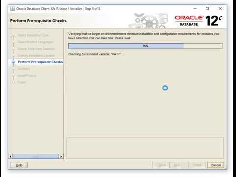 Oracle 12c client installation