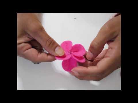 FELT FLOWER TUTORIAL - 5 PETALS