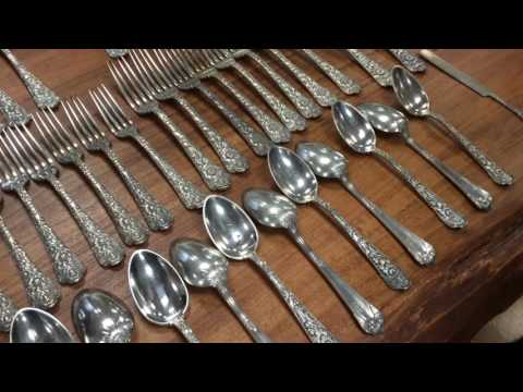 Antique Sterling Silver Gorham Cluny Flatware aavilable at Gannon's Antiques Fort Myers Florida