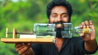 Glass bottle cutting machine | M4 Tech |ചില്ലുകുപ്പി ചുമ്മാ  കളയാൻ വരട്ടെ