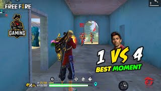 Free Fire Best Kill Moment with Amitbhai, Romeo and Uwaish - Total Gaming
