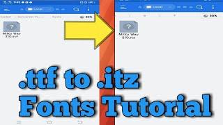 Cara Membuat Font Custom / mengubah font  ttf menjadi  itz di