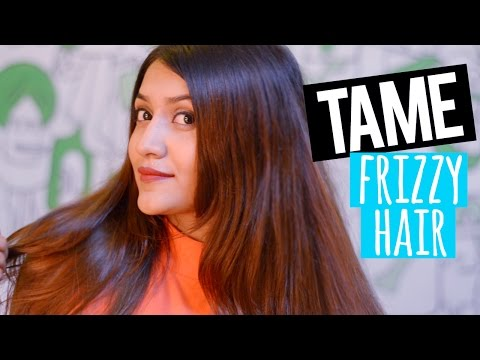 TAME FRIZZY HAIR INSTANTLY at home | NO POO METHOD