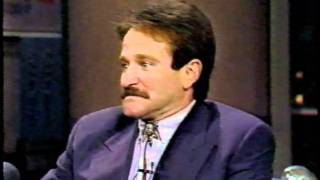 Robins Williams on LATE NIGHT with DAVID LETTERMAN. Dead Poets Society. 1989