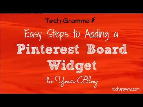 Easy Steps to Adding a Pinterest Board Widget to Your Blog