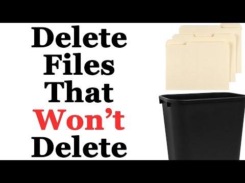 How To Delete Stubborn Files That Won't Delete In Windows 7 & 8