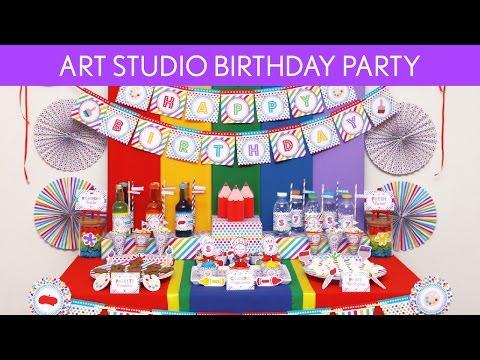 Art Studio Birthday Party Ideas // Art Studio - B125